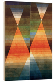 Hout print  Double Tent - Paul Klee