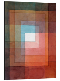 Aluminium print  White framed polyphonically - Paul Klee