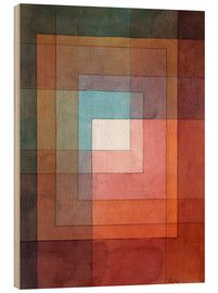 Hout print  White framed polyphonically - Paul Klee