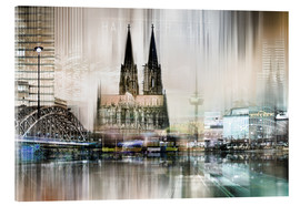 Acrylglas print  Abstract skyline in Cologne, Germany - Städtecollagen