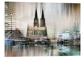PVC print  Abstract skyline in Cologne, Germany - Städtecollagen