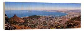 Hout print  Cape Town panoramic view - HADYPHOTO