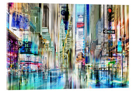 Acrylglas print  USA NYC New York Abstrakte Skyline Collage - Städtecollagen