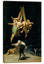 Canvas print  Witches Flight - Francisco José de Goya