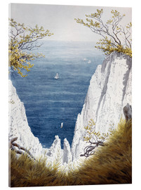 Acrylglas print  Chalk cliffs on Rugen island - Caspar David Friedrich