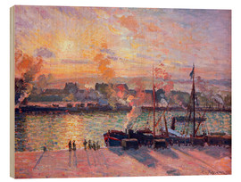 Hout print  Sunset at Rouen - Camille Pissarro