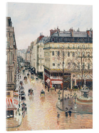 Acrylglas print  The Rue Saint-Honoré in the afternoon - Camille Pissarro