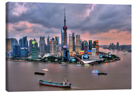 Canvas print  View of Pudong - Shanghai - HADYPHOTO