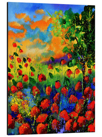 Aluminium print  Field of poppies - Pol Ledent