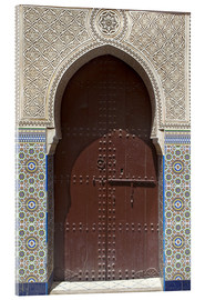 Acrylglas print  Wooden door in decorated archway - Nico Tondini