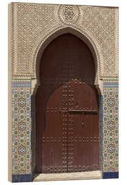 Hout print  Wooden door in decorated archway - Nico Tondini
