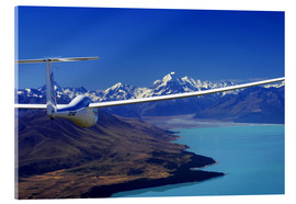 Acrylglas print  Glider over Lake Pukaki - David Wall