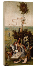 Hout print  The ship of fools - Hieronymus Bosch