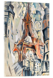 Acrylglas print  The Eiffel Tower - Robert Delaunay
