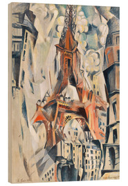Hout print  The Eiffel Tower - Robert Delaunay