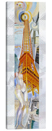 Canvas print  The woman and the tower - Robert Delaunay