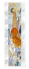 Premium poster  The woman and the tower - Robert Delaunay