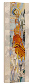 Hout print  The woman and the tower - Robert Delaunay