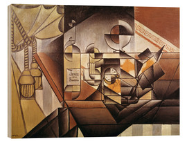 Hout print  Composition with clock - Juan Gris