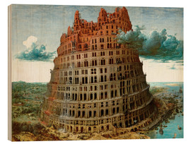 Hout print  The Tower of Babel - Pieter Brueghel d.Ä.