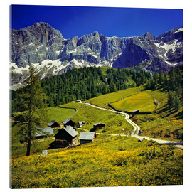 Acrylglas print  Alm in the Dachstein Alps - Ric Ergenbright