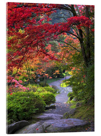 Acrylglas print  Path at Japanese Garden - Janell Davidson