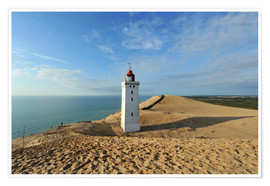 Premium poster Lighthouse Rubjerg Knude in Denmark