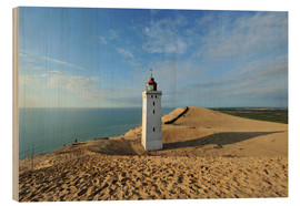 Hout print  Lighthouse Rubjerg Knude in Denmark - HADYPHOTO