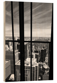 Hout print  Window view of Central Park - Buellom