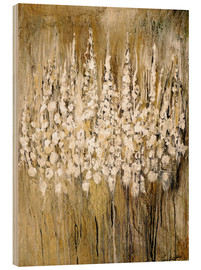 Hout print  flower abstract - Christin Lamade