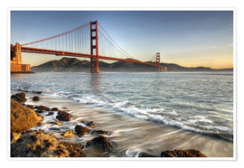 Premium poster  View to the Golden Gate Bridge - David Svilar