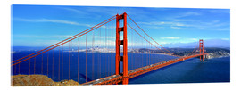 Acrylglas print  Golden Gate bridge from above - Ric Ergenbright