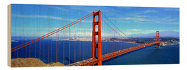 Hout print  Golden Gate bridge from above - Ric Ergenbright