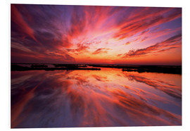 PVC print  Red sunset - Jay O'Brien