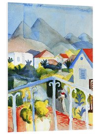 PVC print  Saint Germain near Tunis - August Macke