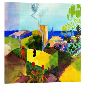 Acrylglas print  Landscape by the sea - August Macke