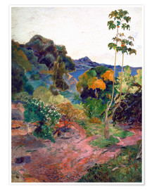 Premium poster  Het landschap van Martinique - Paul Gauguin