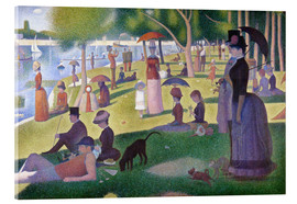 Acrylglas print  A sunday afternoon on the island of La Grande Jatte - Georges Seurat