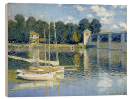 Hout print  The Bridge at Argenteuil - Claude Monet