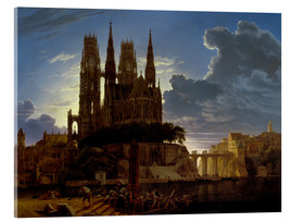 Acrylglas print  Cathedral over a city - Karl Friedrich Schinkel