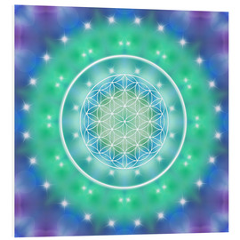 PVC print  Flower of Life - Relaxation - Dolphins DreamDesign