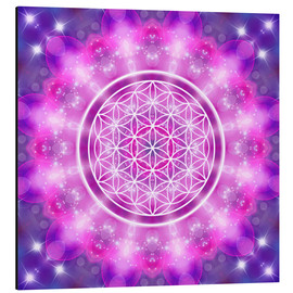 Aluminium print  Flower of Life - Love Essence - Dolphins DreamDesign