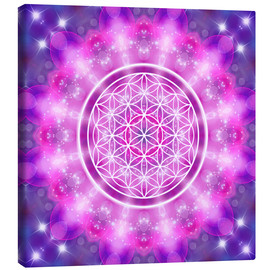 Canvas print  Flower of Life - Love Essence - Dolphins DreamDesign