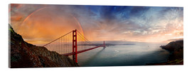 Acrylglas print  San Francisco Golden Gate with rainbow - Michael Rucker