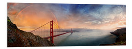 PVC print  San Francisco Golden Gate with rainbow - Michael Rucker