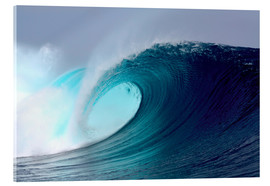 Acrylglas print  Tropical blue surfing wave - Paul Kennedy