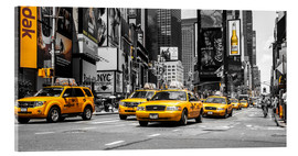 Acrylglas print  Gele taxi's in Times Square - Hannes Cmarits
