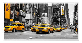 Premium poster Gele taxi's in Times Square