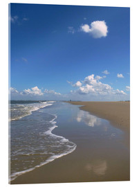 Acrylglas print  further beach with clouds - Susanne Herppich