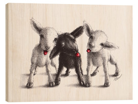 Hout print  naughty sheep - Stefan Kahlhammer